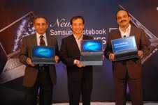 Mr. Ranjit Yadav, Country Head Samsung Mobile & IT; Mr Taeho Roh, VP, Samsung Mobile & IT; Mr. Uday Bhat, Director Samsung IT Busines