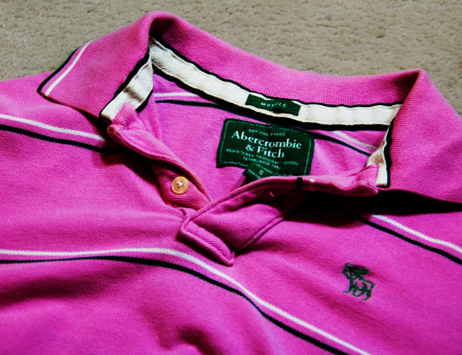 Abercrombie and Fitch muscle shirt, A&F pink polo, Pink polo