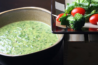 Fresh Meyer Lemon Pesto with Tomato, Beet Green and Broccoli Skewers ...