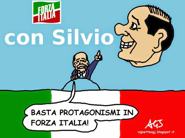 Berlusconi, forza italia, riforme, protagonismo, vignetta, satira