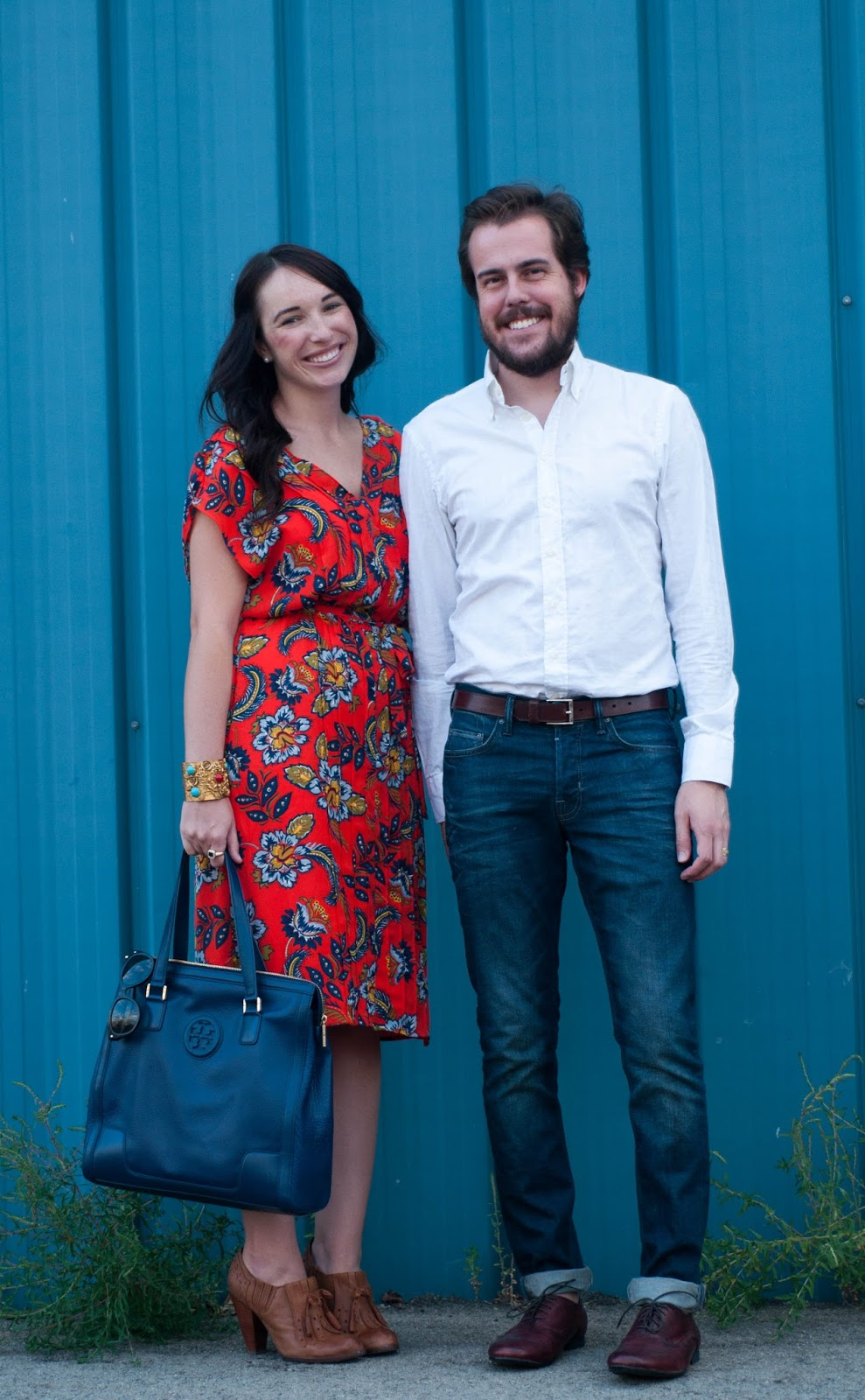 couples fashion, couples style, street style, lands end giveaway, lands end dress, all saints cigarette jeans, ootd
