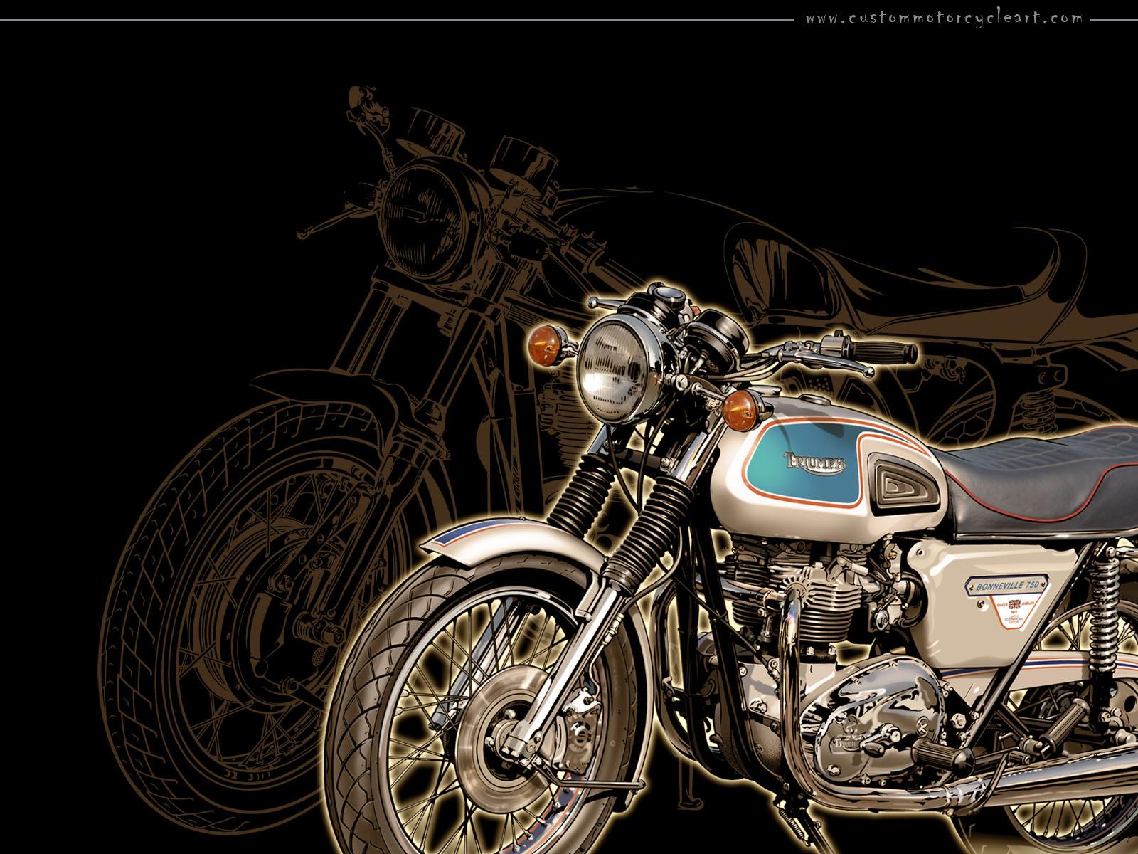 Racing Caf&232 Motorcycle Art  Gaston Vanzet