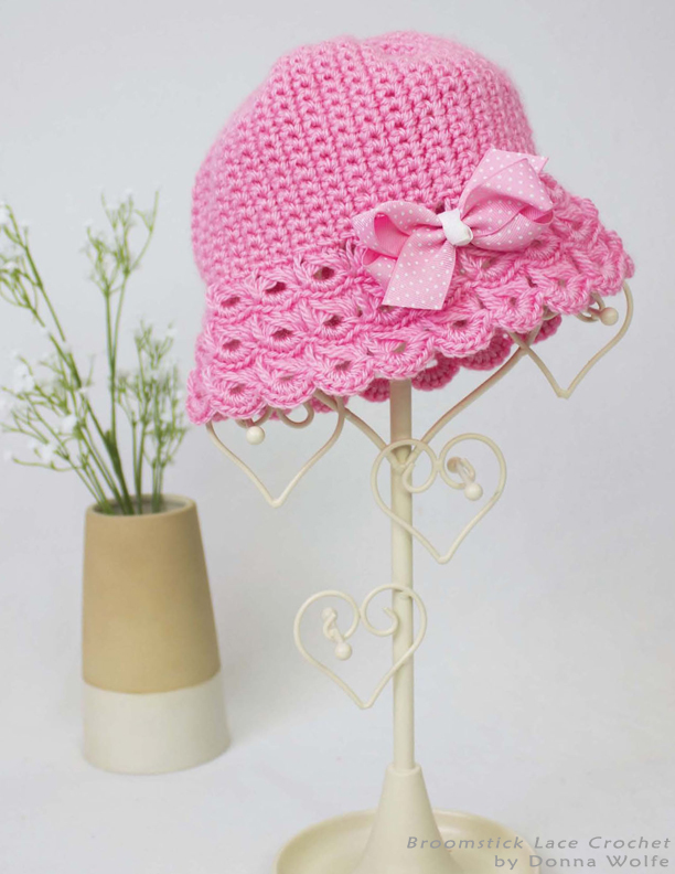 Book Cover Crochet Hats : Cute crochet chat broomstick lace book review and