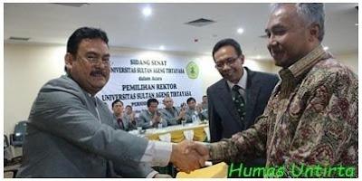 Prof. Sholeh Hidayat Rektor Terpilih Untirta 2015-2019