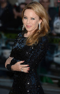 Kylie Minogue simply dazzling in a black dress