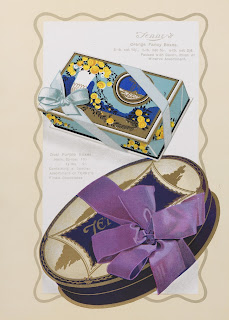 Image of two decorated chocolate boxes 1934