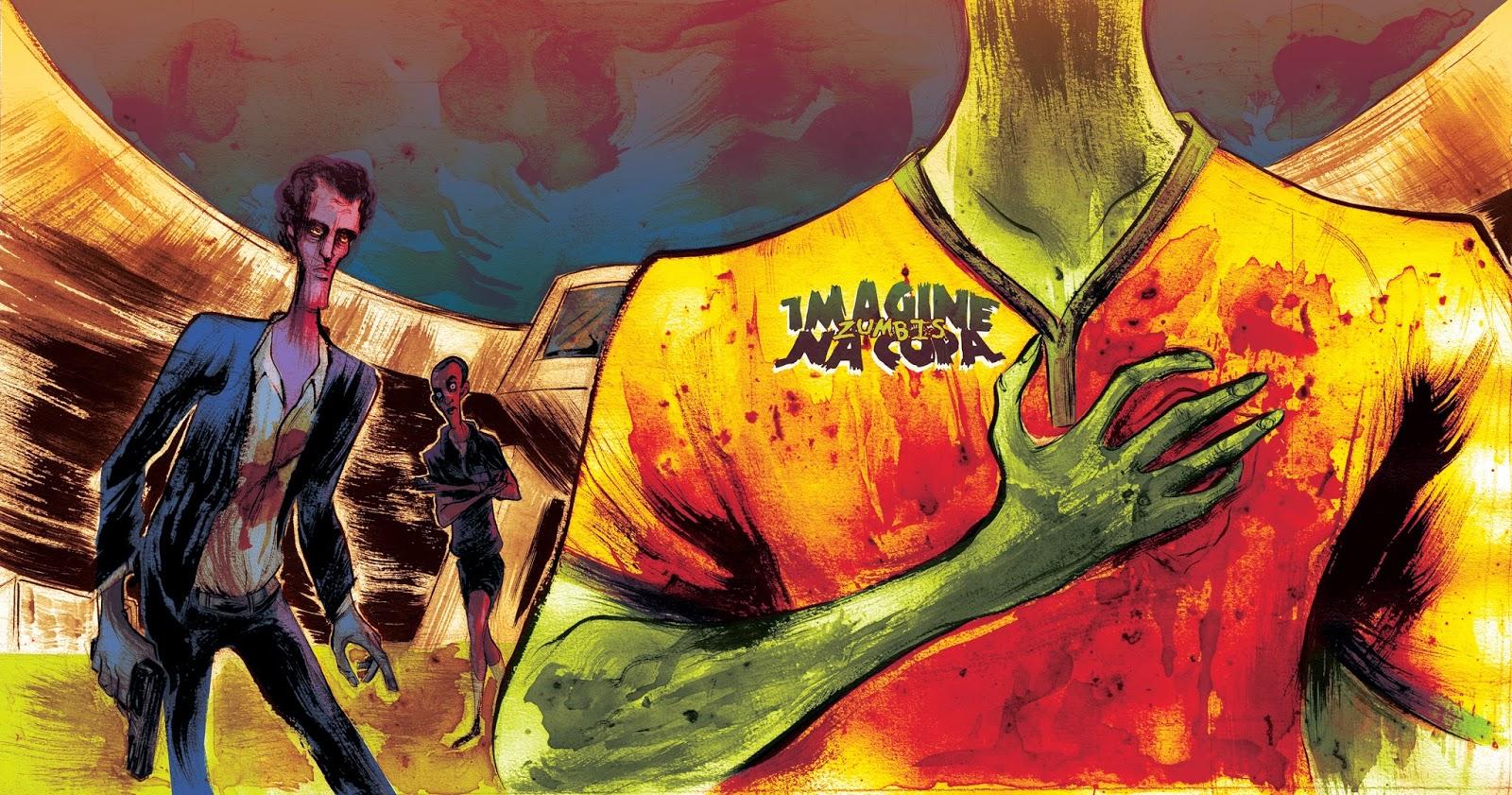 "Lançamento de ""Imagine Zumbis na Copa"" na Quanta"