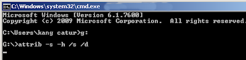 Memunculkan File Yang Tersembunyi di Flashdisk