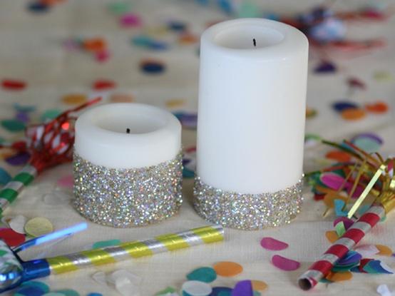Ideia decoração réveillon Ano novo vela