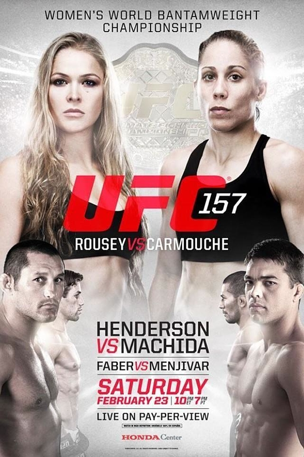 Poster Ronda Rousey vs Liz Carmouche, 23 de febrero, 2013