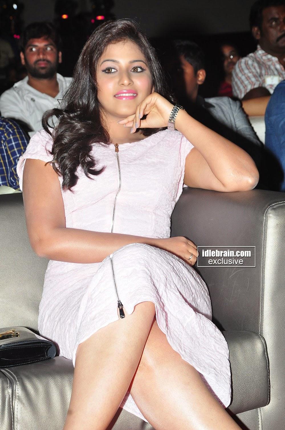Anjali  crossed legs