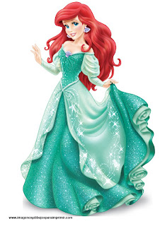 dibujo de Ariel la sirena de disney para imprimir