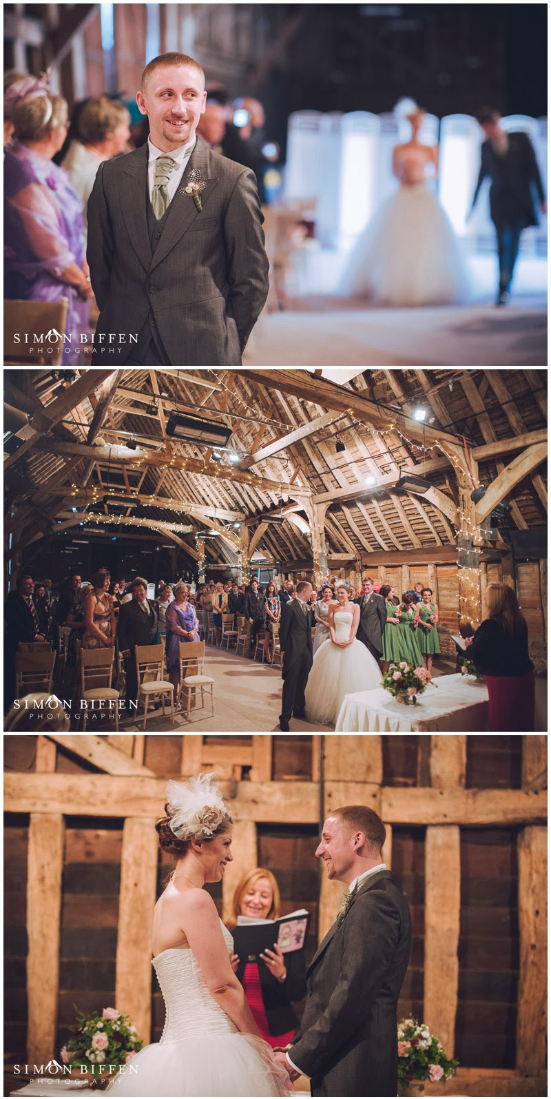 Wedding ceremony Blackthorpe Barn