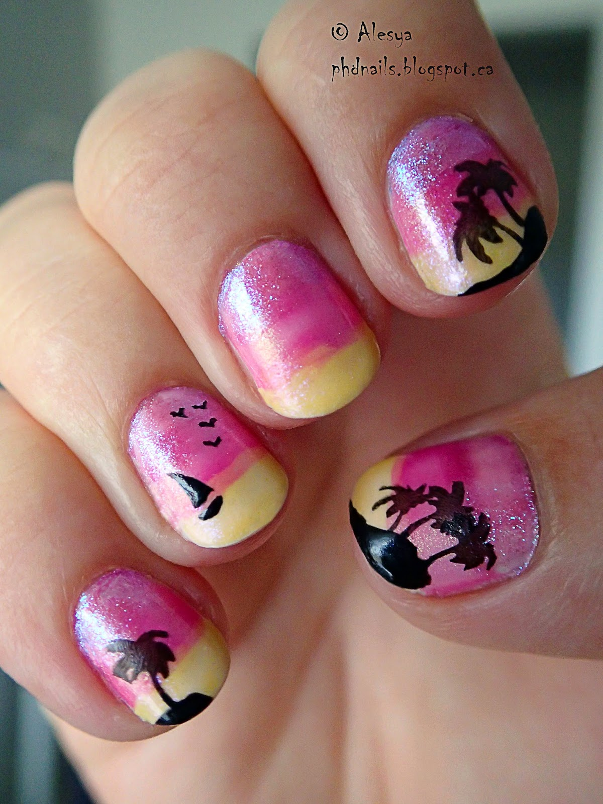 Phd nails september nail art challenge stamping month day 6 travel prinsesfo Choice Image