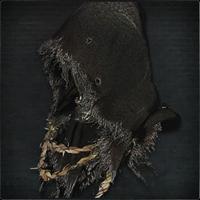 Black Hooded Iron Helm