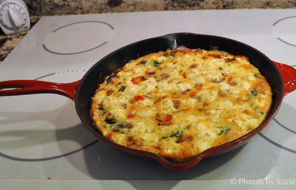Townsend Tales: Spinach and Bacon Frittata