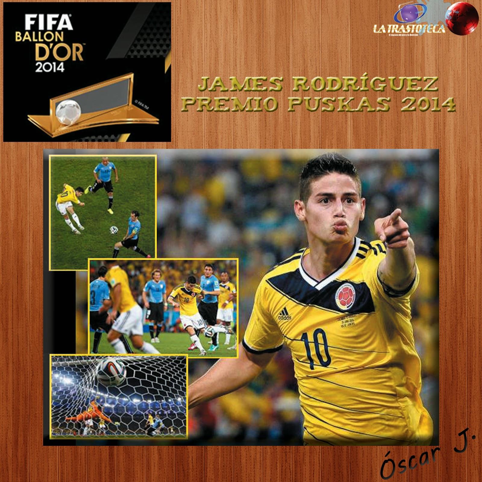 James Rodríguez, Premio Puskas 2014 al mejor gol