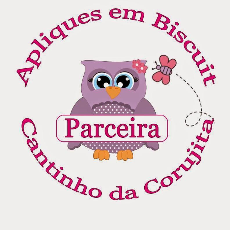 Parceira Cantinho da Corujita Apliques em Biscuit