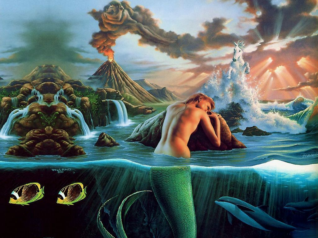 animation pictures wallpapers mermaid wallpapers