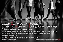 """Primeros sábados de cada mes 2013; CICLO """"Ciudadanía Inquieta"""":  JORNADAS DE  CONTACT IMPROVISACIÓN"""