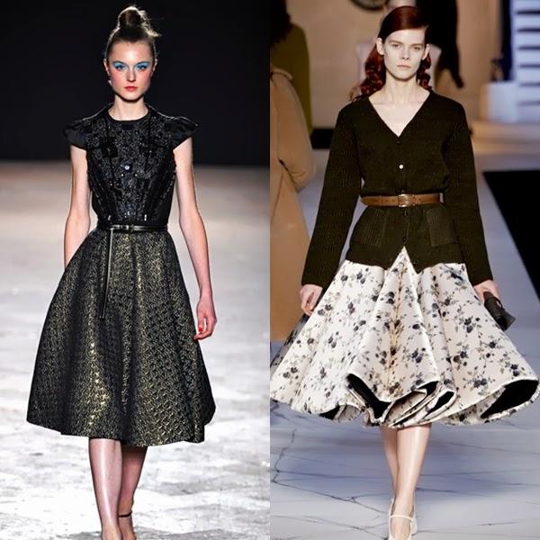 full midi skirts on the runway