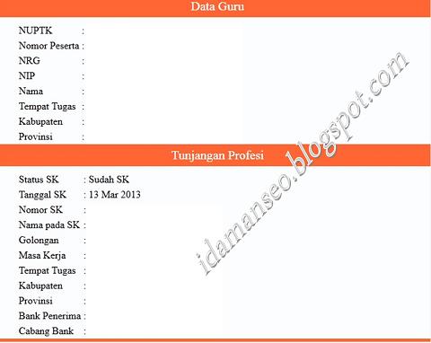 Cek Online Status Penerbitan SK Tunjangan Profesi/Fungsional/Khusus Guru