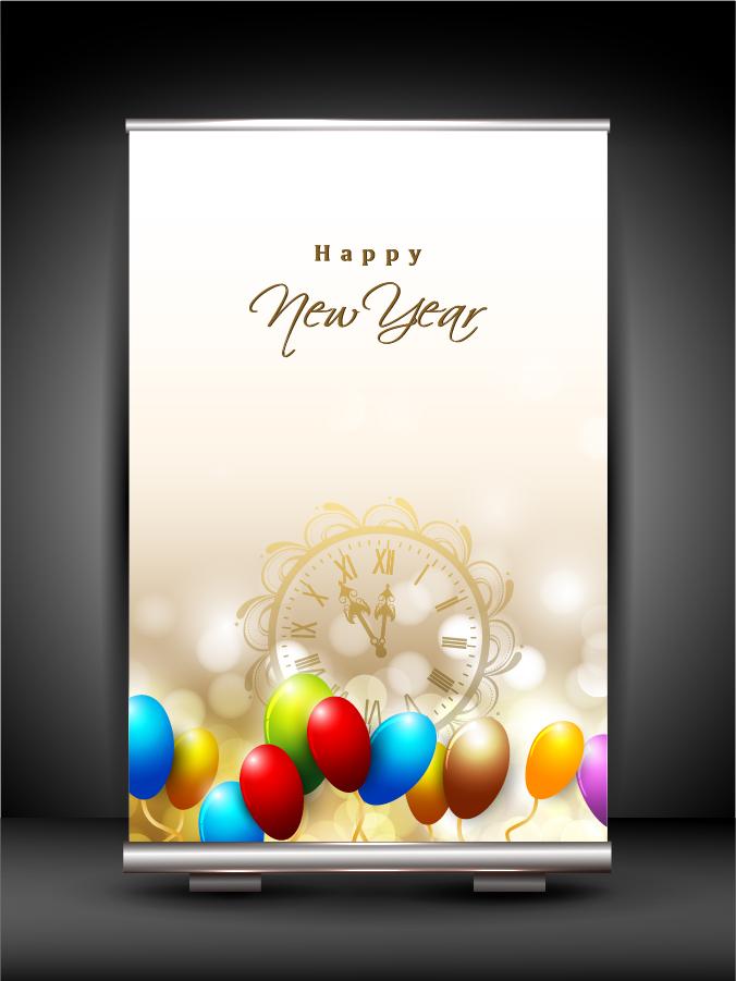 新年・クリスマスのバナーと背景 2013 New Year and Christmas backgrounds. イラスト素材3