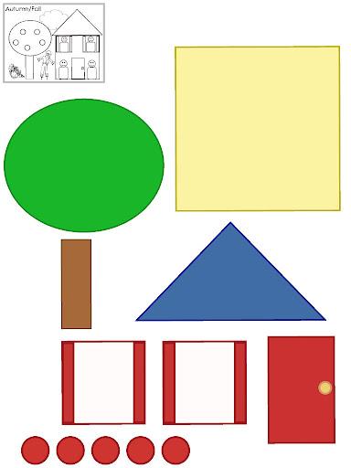 Moldes de casas para imprimir recortar e montar ou - Formas de pintar una casa ...