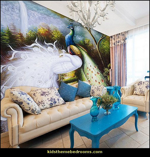 peacock inspired living room. Peacock theme decorating  peacock decor exotic style Decorations Decorating bedrooms Maries Manor