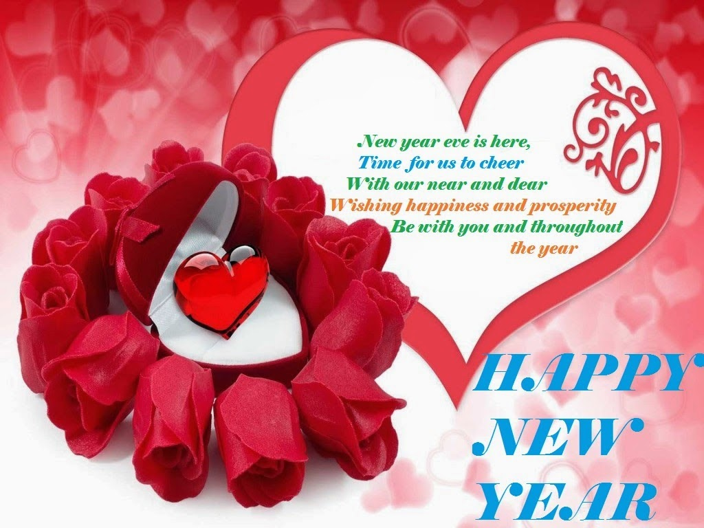 Greetings Stylish Roses Happy New Year Wishes