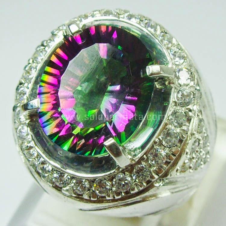 Cincin Batu Rainbow Mystic Quartz
