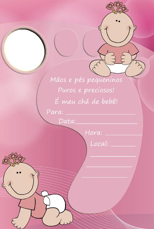 criativa e prendada convites para ch do beb prontos para imprimir