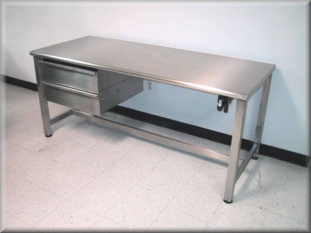 Stainless steel work bench for Steel table design