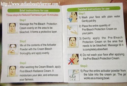 how to use cream bleach on face