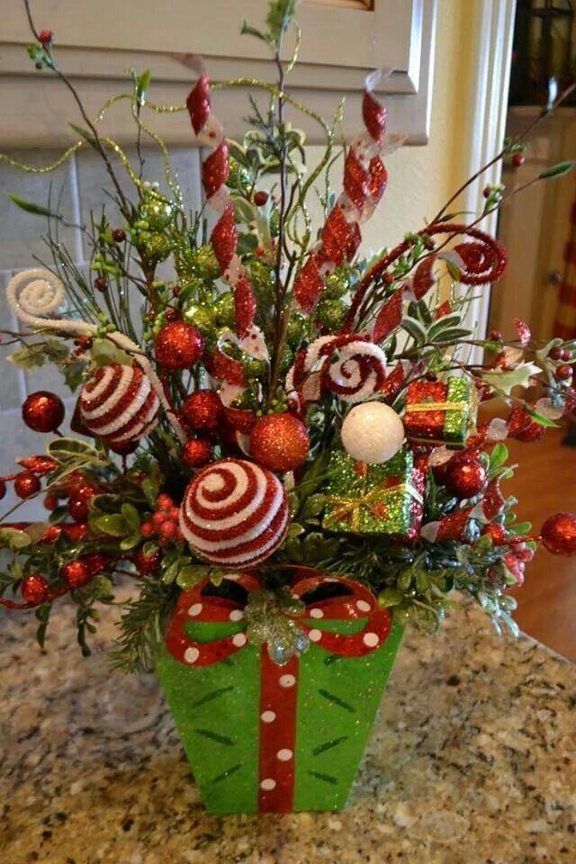 Chill decoraci n diy centro de mesa navide o small - Adornos de mesa navidenos ...