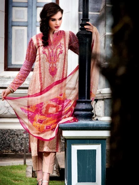 Best Gul Ahmed Chiffon 2014 Collection