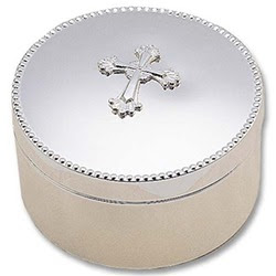 Silver Plated Abbey Round Box