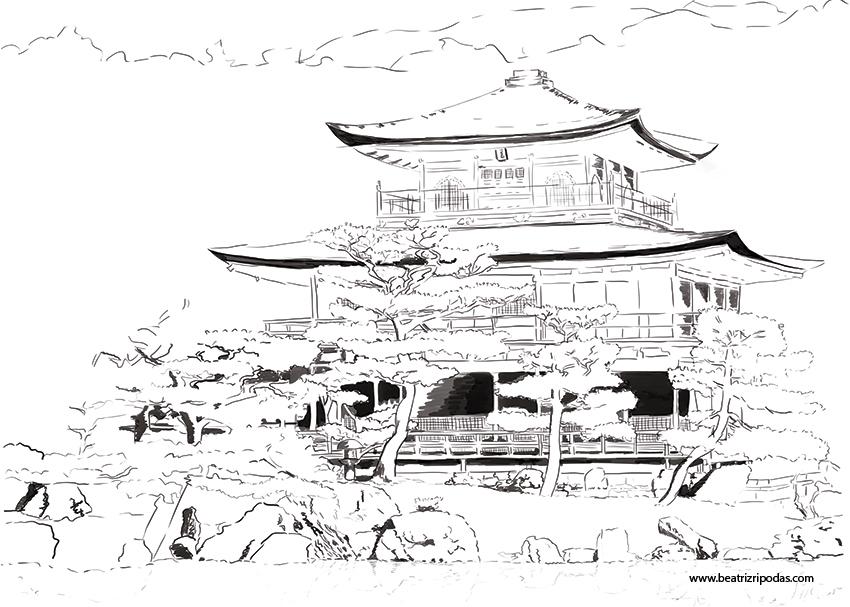 Resultado de imagen para paisajes japoneses dibujos Dibujar y