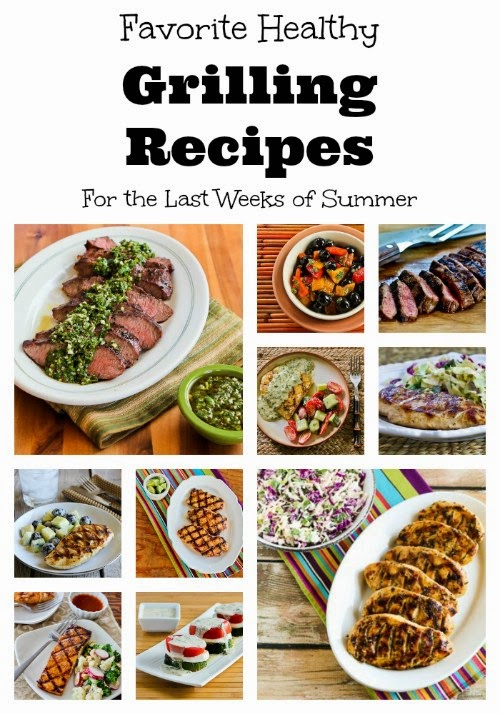 Favorite Healthy Grilling Recipes for the Last Weeks of Summer found on KalynsKitchen.com