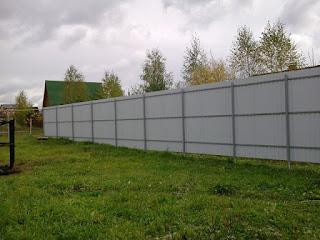 Забор из профлиста. Фото 19