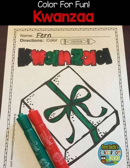 Fern Smith's Classroom Ideas Kwanzaa Fun! Color For Fun Kwanzaa Printable Coloring Pages at TeacherspayTeachers, TpT.