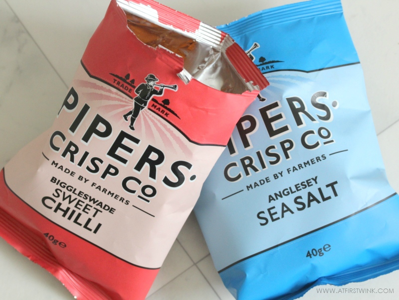 Pipers crisps Sweet Chilli and Sea Salt packs