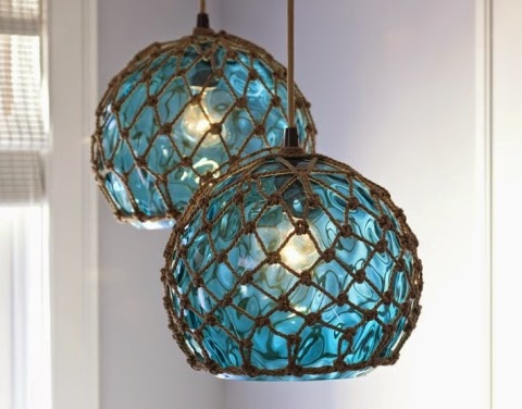 Antique Scalloped Glass Pendant Lampshade