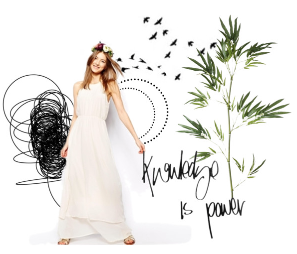 Knowledge is power, quote collage created by @faitboum with Polyvore