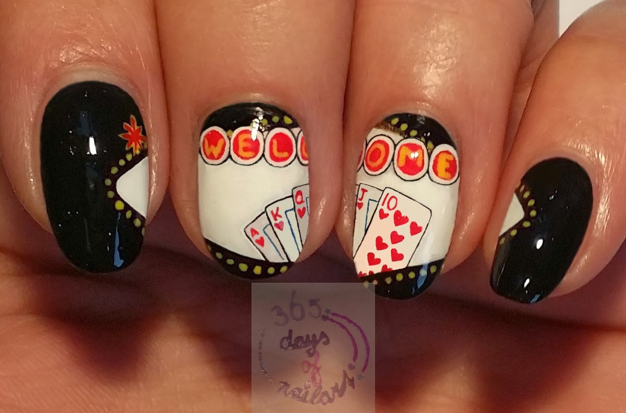 365 Days Of Nail Art Day 286 Nail Art Royal Flush