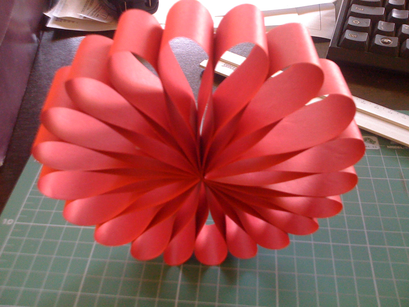 Enfeite De Papel ~ Flores de papel Enfeite de natal em papel