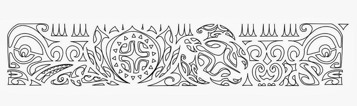 "Armband ""peace & stability"" Samoan tattoo stencil"