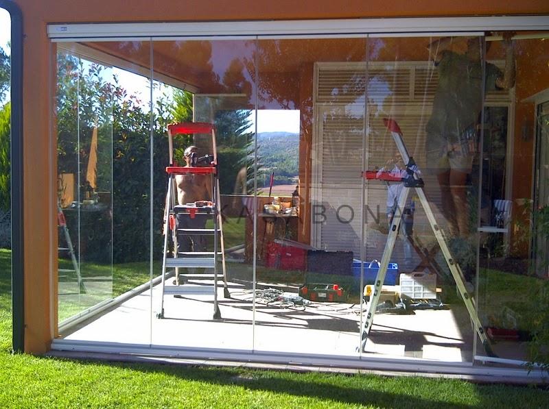 Kasabona acristalamiento de porche con cortinas de for Acristalamiento de porches