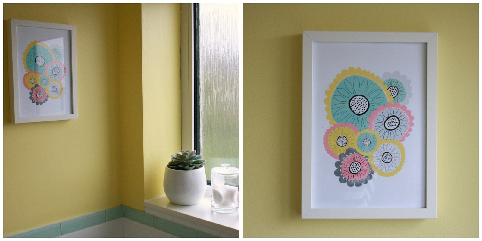 Tales from a happy house.: A Jolly Yellow Spring-Time Bathroom