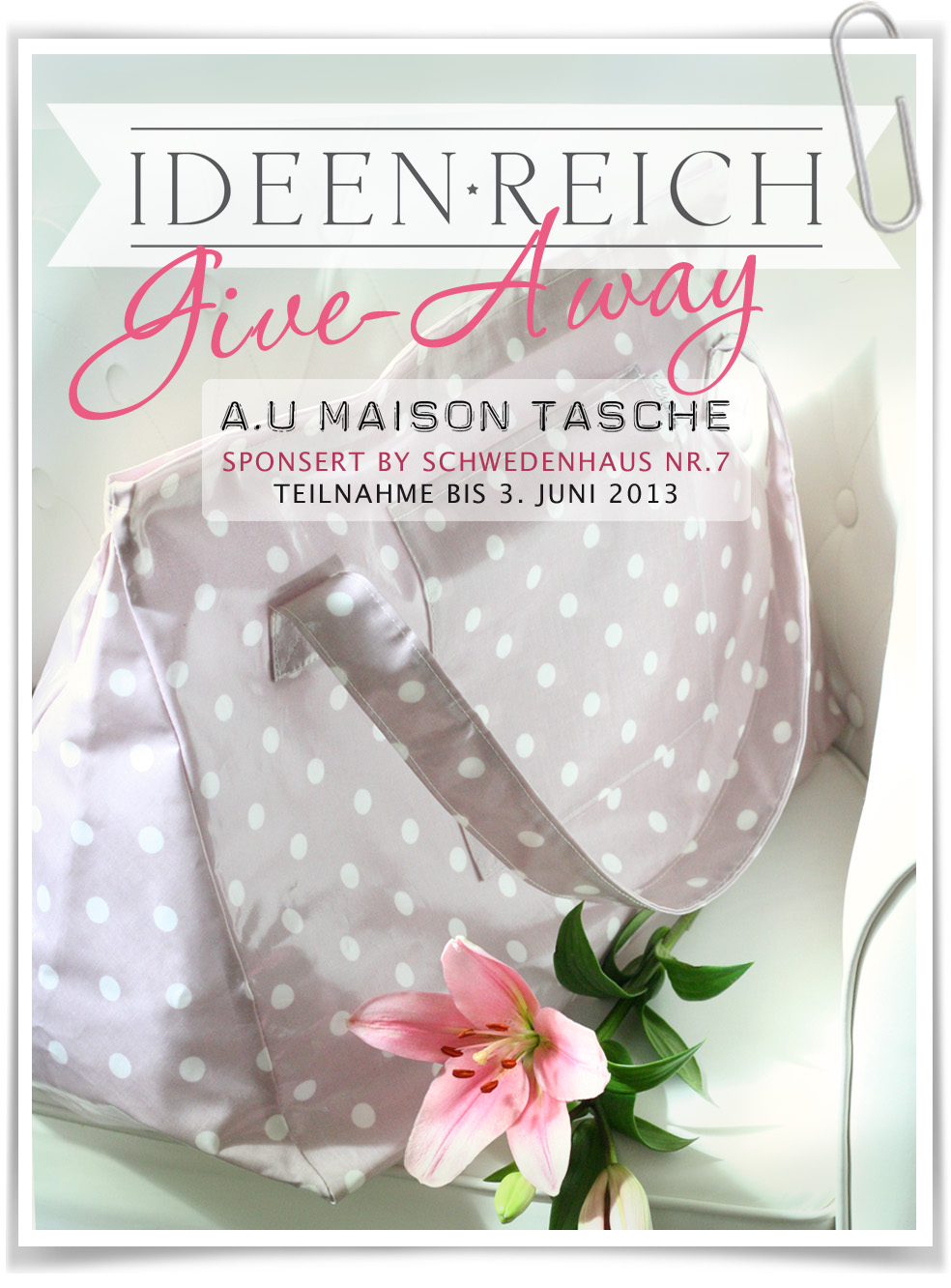 Give Away bei Tanja